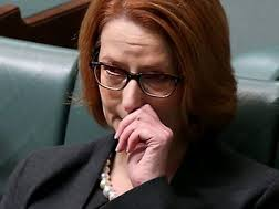 gillard crying